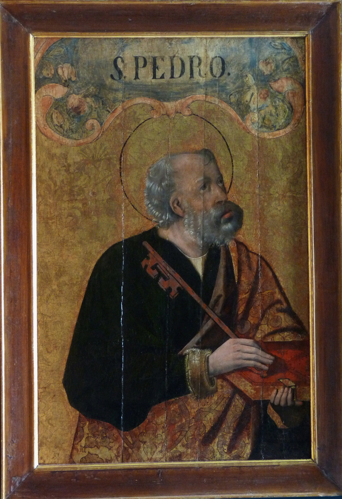 3 E 25.- Tabla de Escuela de Palencia. San Pedro. Temple sobre oro. 81 x 53 cm. Palencia, ca. 1480