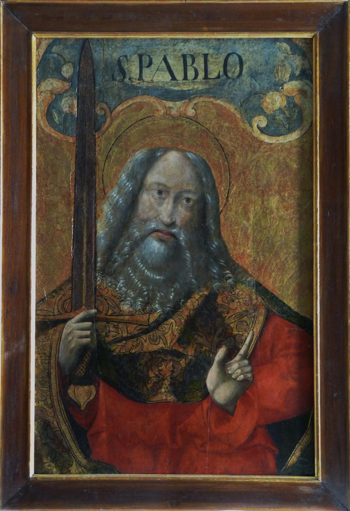 3 E 27- Tabla de Escuela de Palencia. San Pablo. Temple sobre oro. 81 x 53 cm. Palencia, ca. 1480