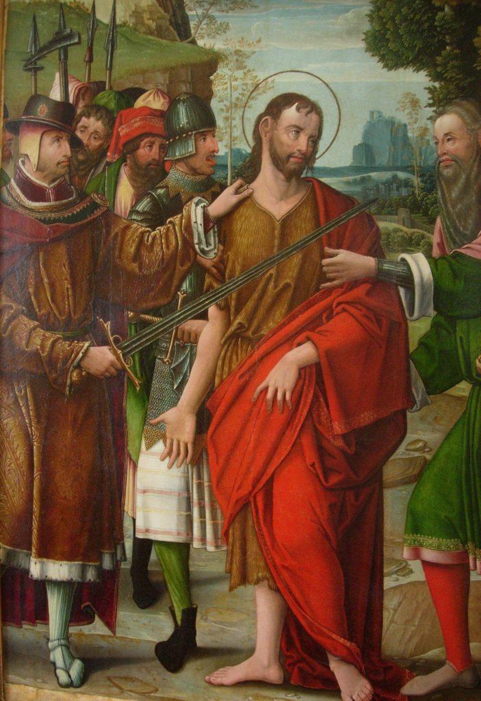 4 E 05.- Tabla del Maestro de las Santos Juanes (d.1520-45). Prendimiento S. Juan. Óleo. 90 x 123 cm. Palencia, 1535-8