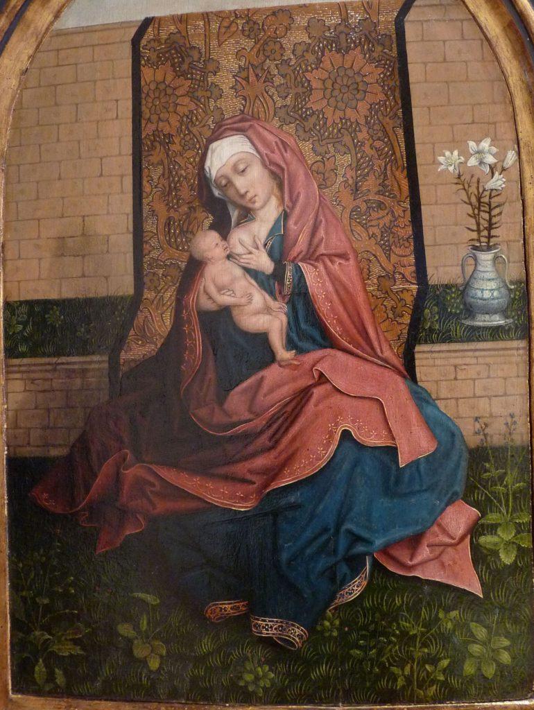 4 F 11-Tabla del Maestro de Frankfurt. Virgen con Niño. Maestro de Frankfurt (activo en Amberes 1483-1533).
