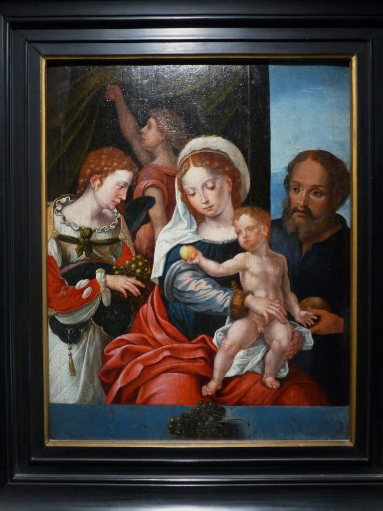 4 F 22 - Sagrada Familia. Maestro de los Modelos de Pieter Coecke (activo en Amberes 1530-1540)