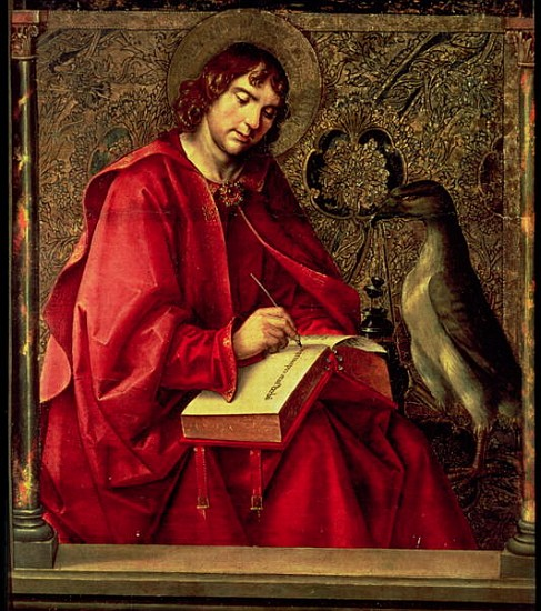 XJL61784 St. John the Evangelist, from the St. Thomas altarpiece by Berruguete, Pedro (c.1450-1504)